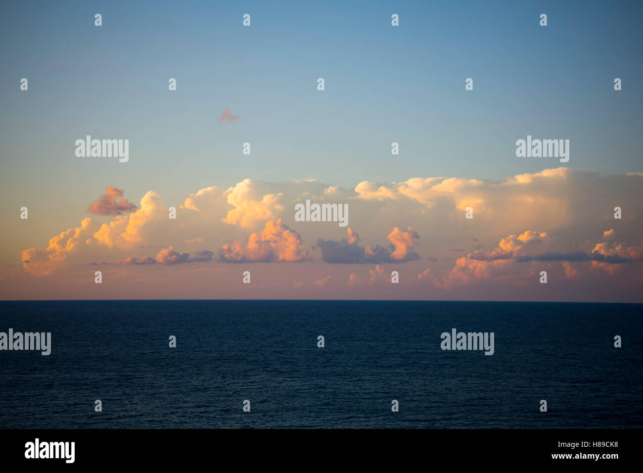 Griechenland, Kreta, Chania, abend wolken Stockbild