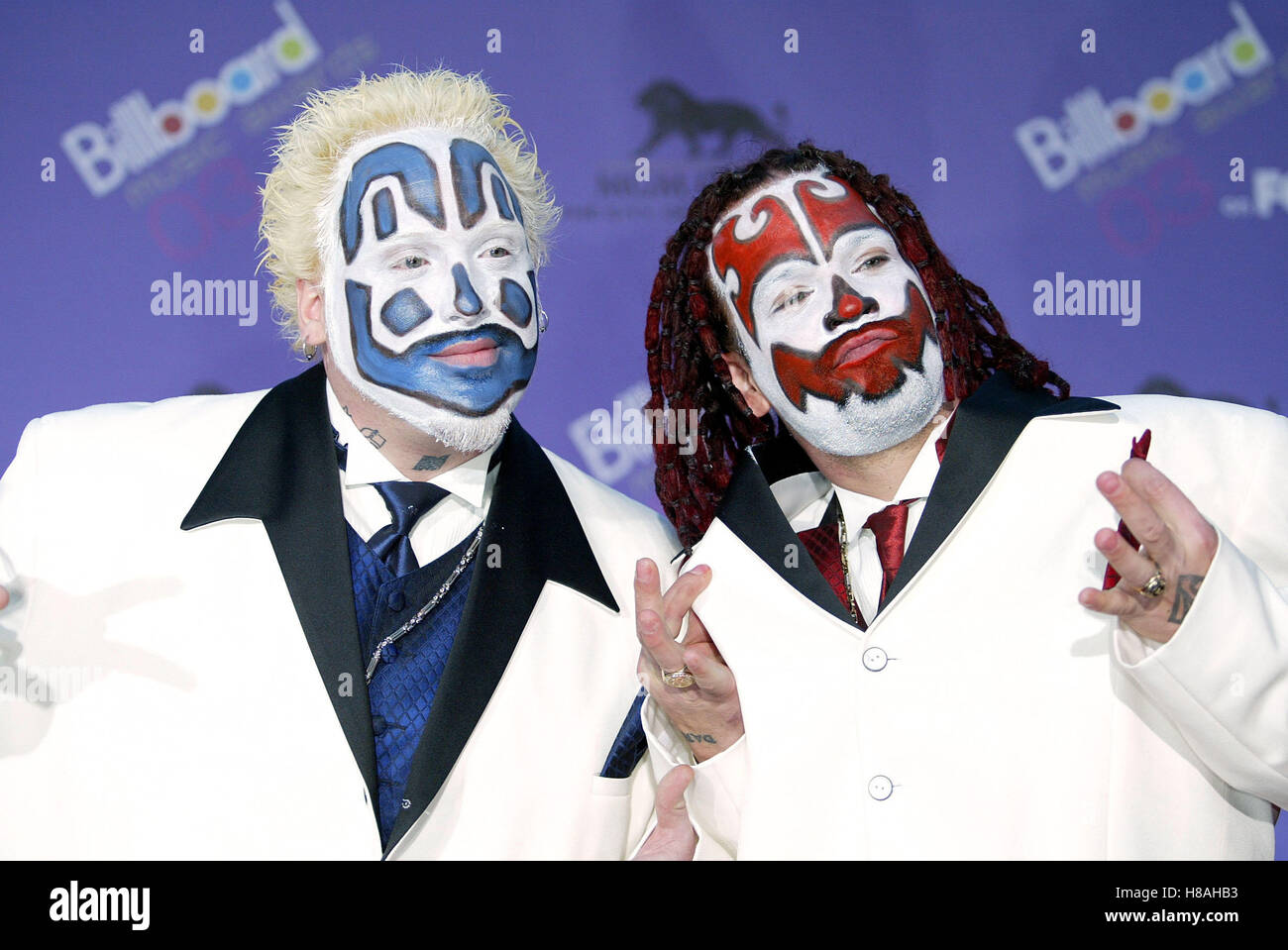 INSANE CLOWN POSSE BILLBOARD MUSIC AWARDS 2003 MGM GRAND HOTEL LAS VEGAS USA 10 Dezember 2003 Stockbild