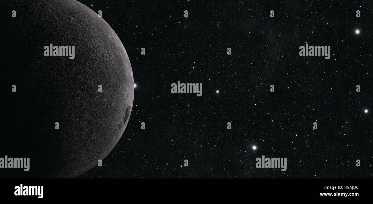 Eine Computer-Grafik-Rendering des Mondes Stockbild