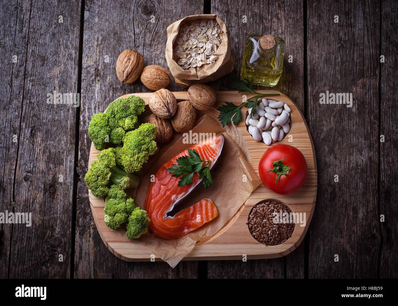 Cholesterin-Diät, gesunde Ernährung für Herz. Selektiven Fokus Stockbild