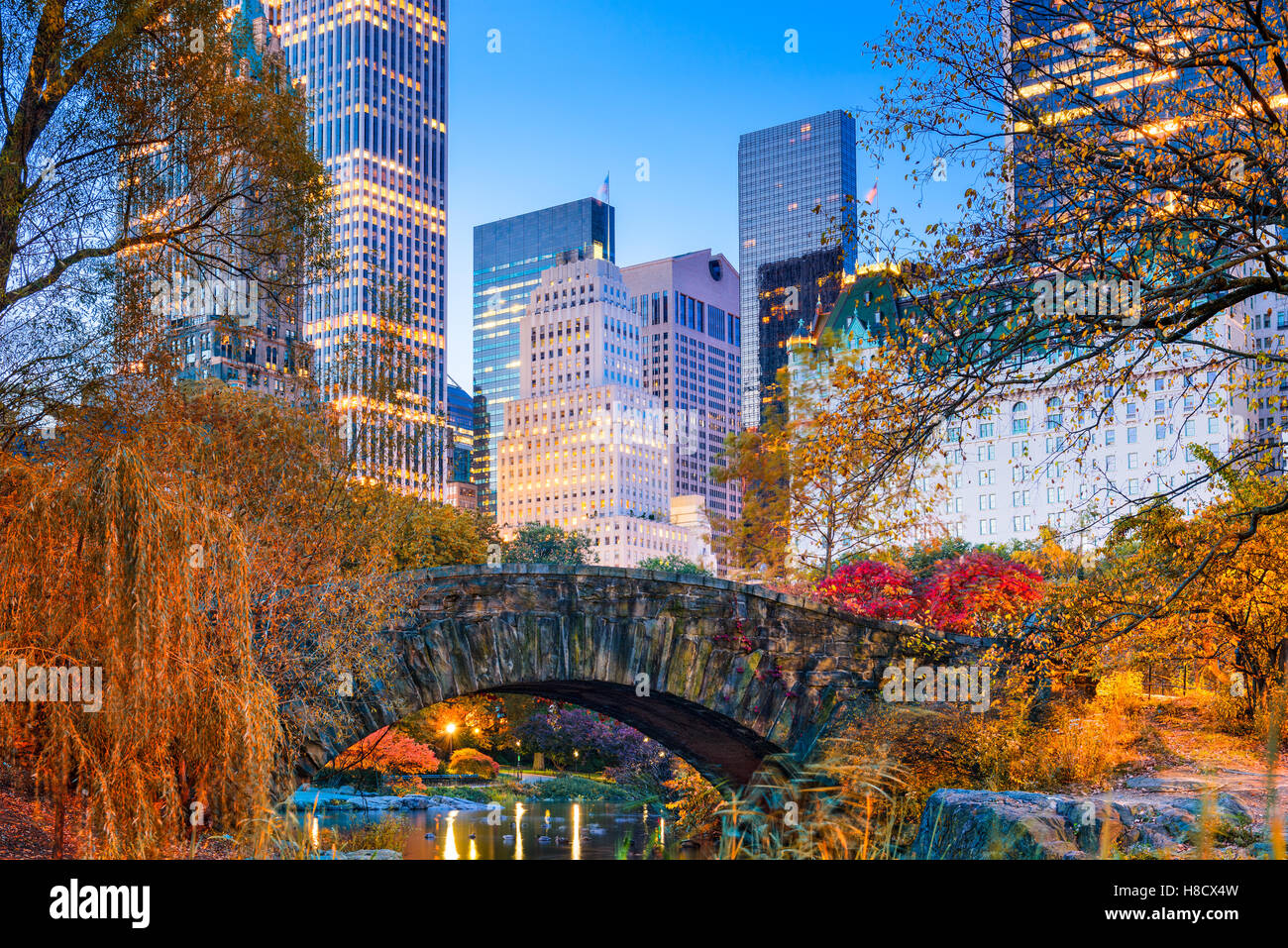 Central Park im Herbst in New York City. Stockbild