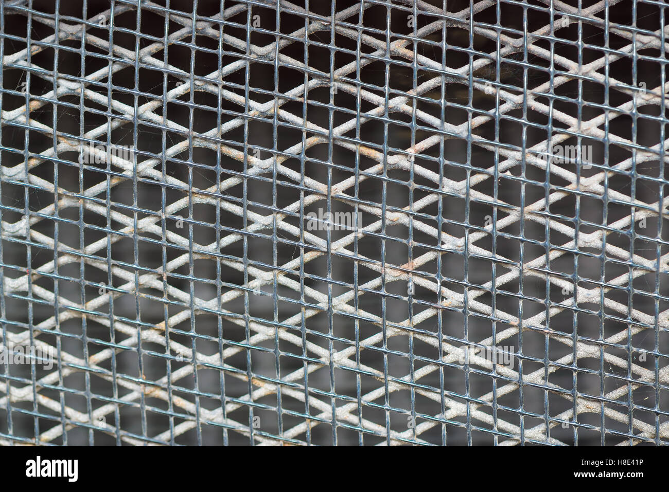 Alten rostigen Metall-Gitter-Muster, metallic Mesh, Hintergrund und Struktur Stockbild