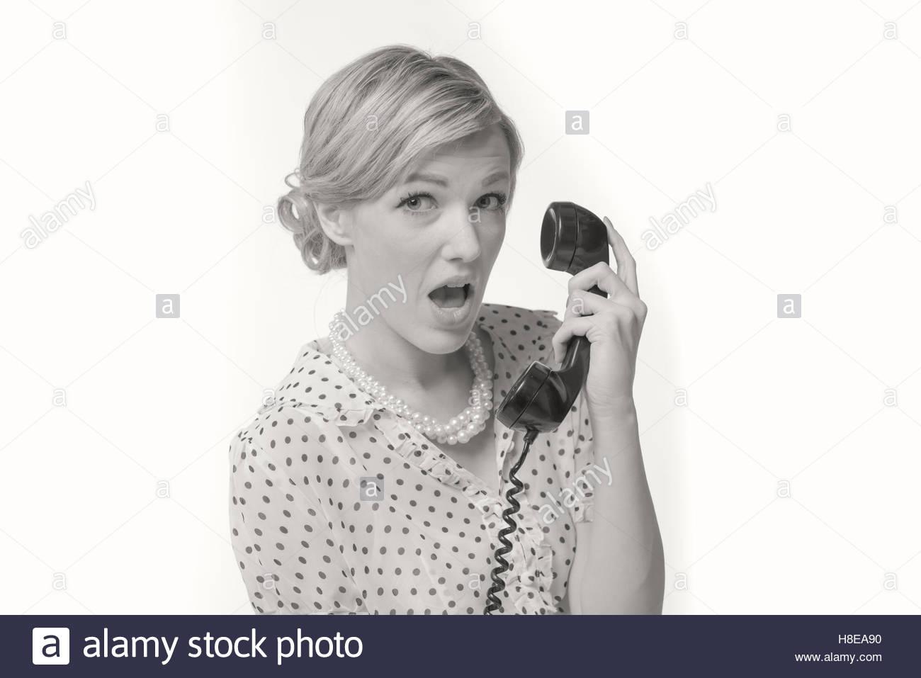 Retro Woman 1950\'s Stockfotos & Retro Woman 1950\'s Bilder - Alamy