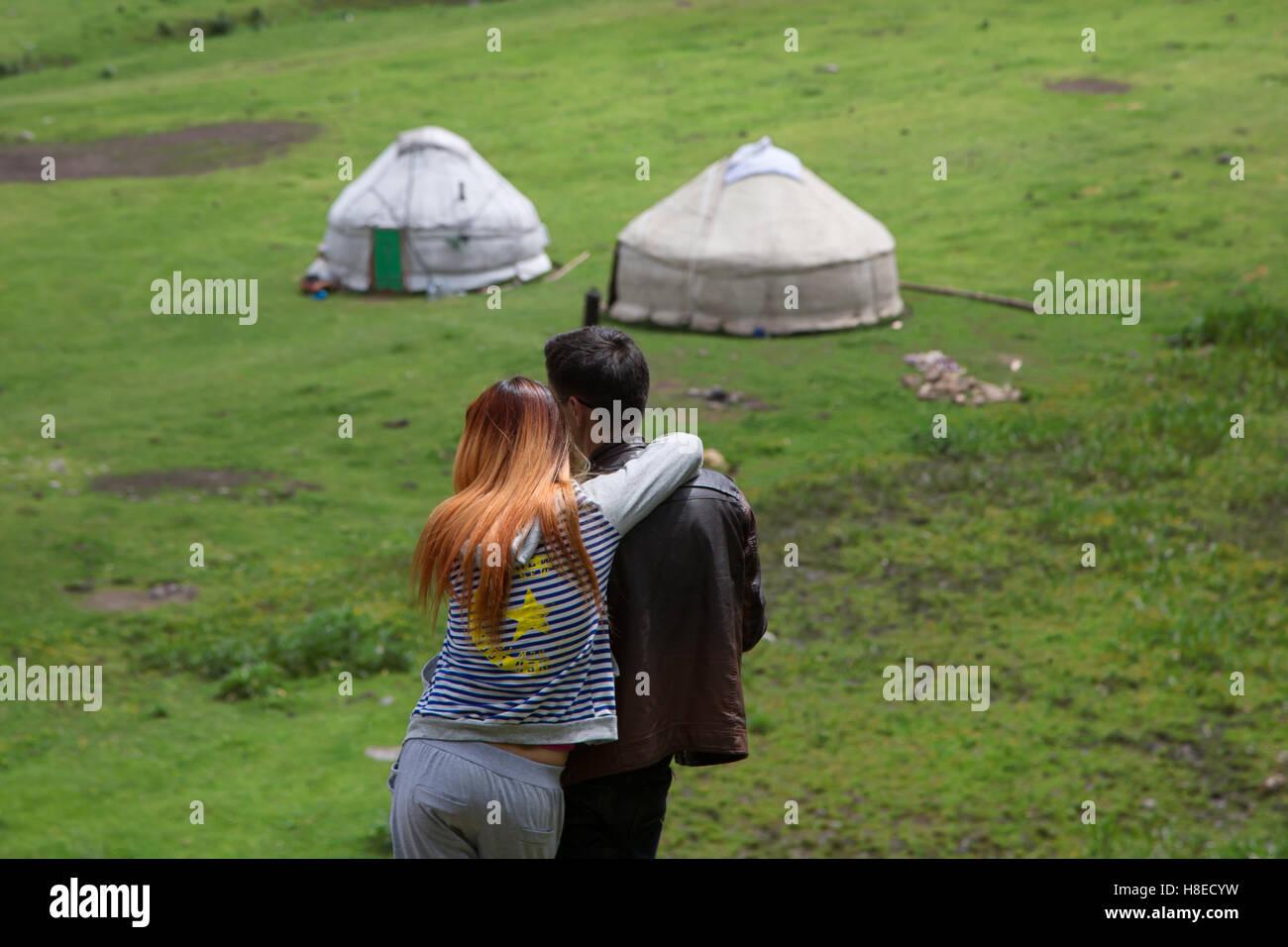 Kirgisistan - Bilder - Reisen Menschen Zentralasien Stockbild