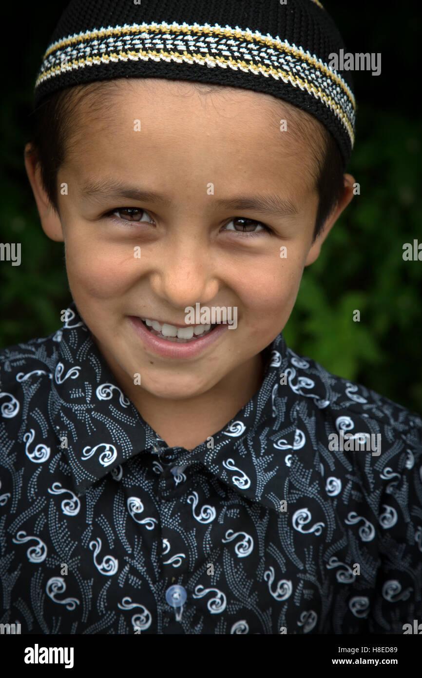Kirgisistan - Porträt von Menschen - reisen Zentralasien - Seidenstraße Stockbild