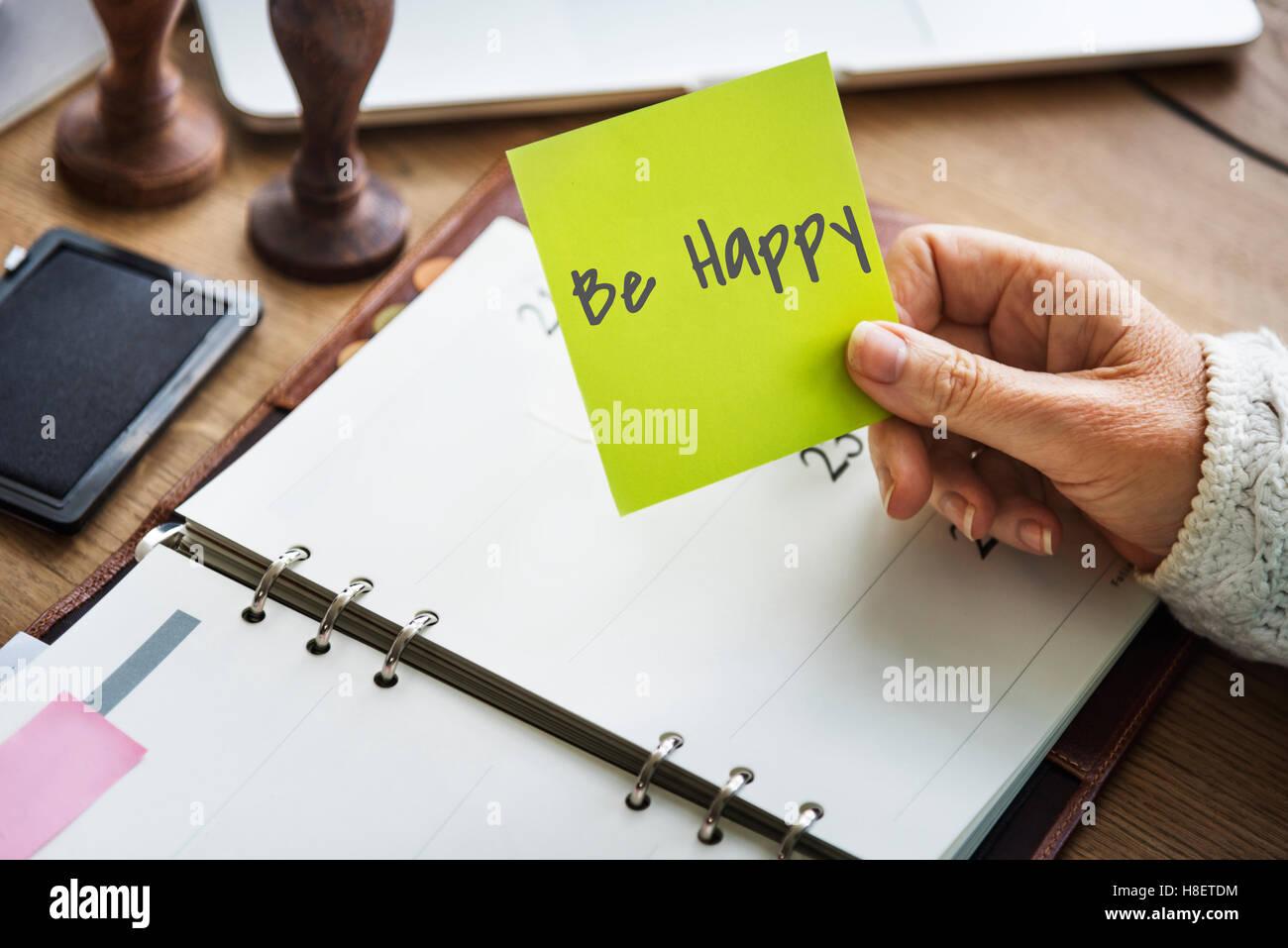 Werden Sie glücklich freudigen Genuss-verspieltes Glück-Lifestyle-Konzept Stockbild