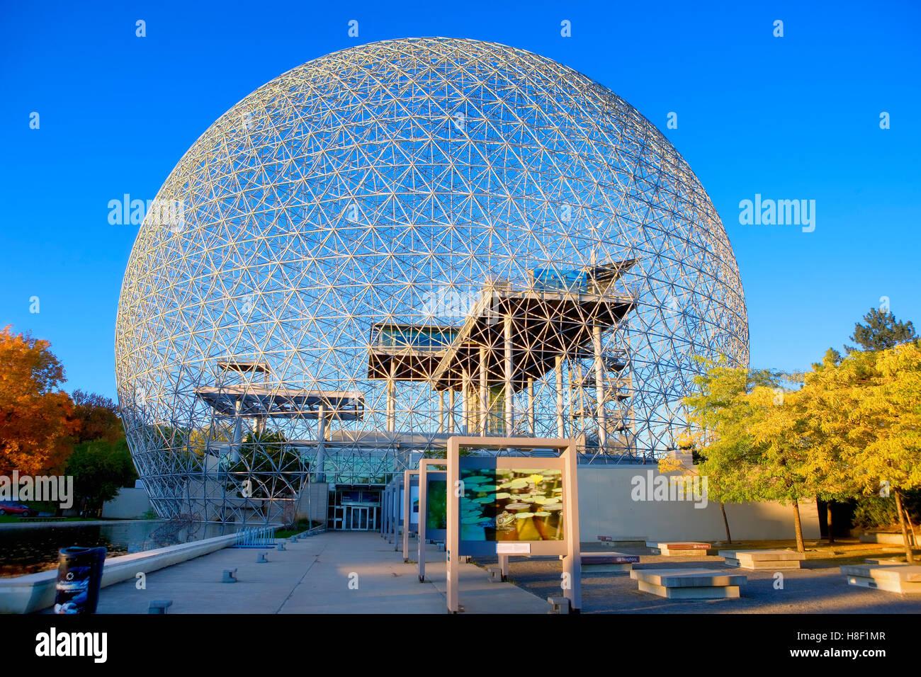 Die Biosphäre, Parc Jean Drapeau, Montreal, Kanada Stockbild