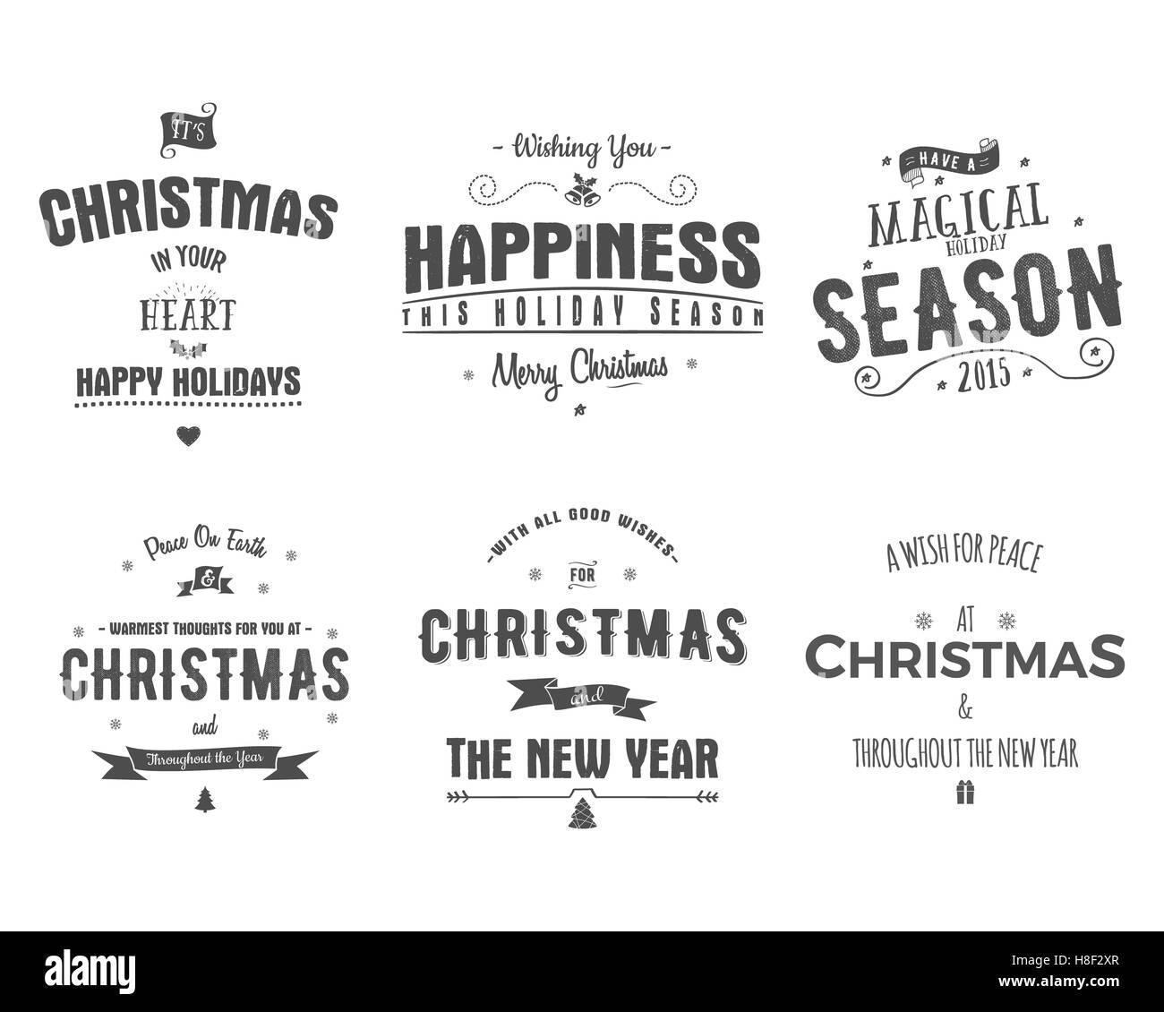 Weihnachtskarten Clipart.Frohe Weihnachten Schriftzug Sammlung Clipart Für Saison
