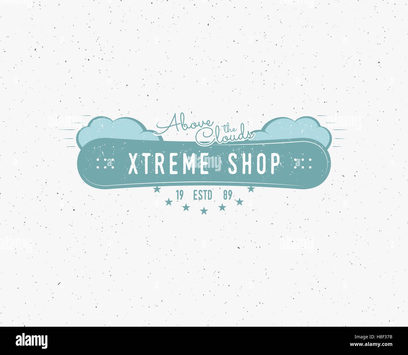 Extreme Snowboard shop Logo und beschriften Vorlagen Winter ...