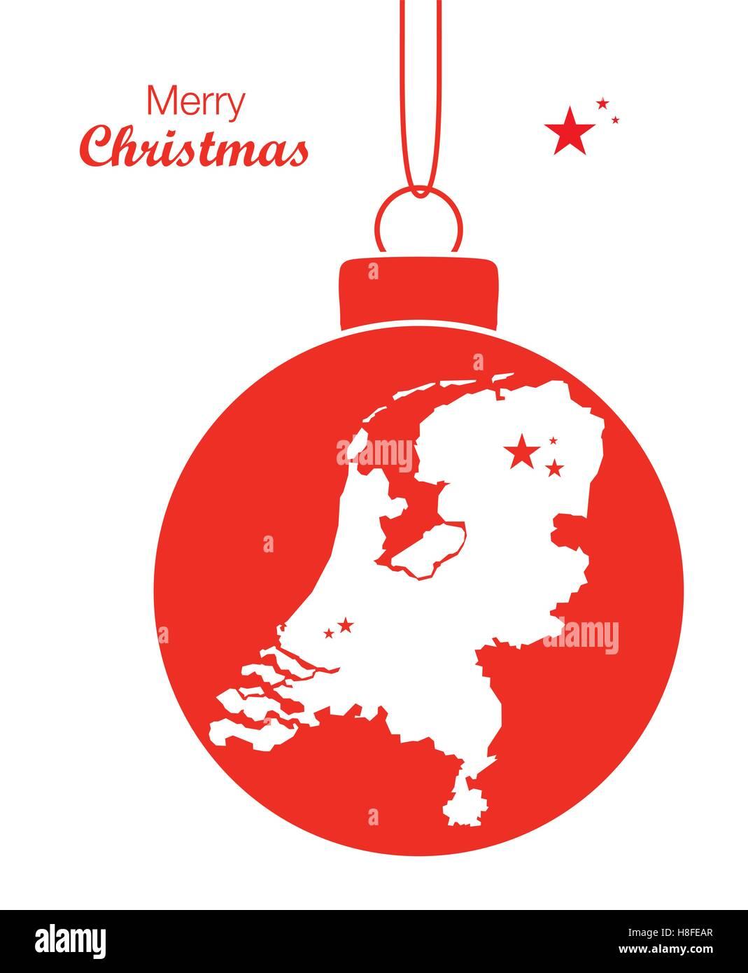 Frohe Weihnachten Karte Niederlande Vektor Abbildung Bild