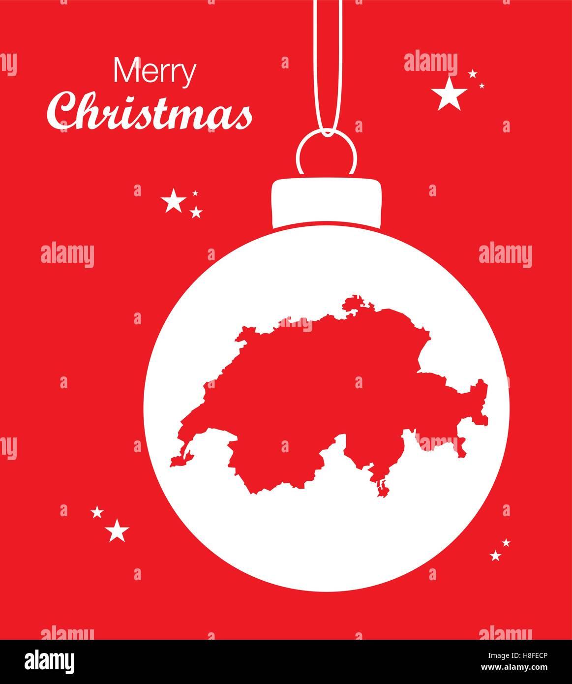 Frohe Weihnachten Schweiz.Schweiz Vector Vectors Stockfotos Schweiz Vector Vectors Bilder