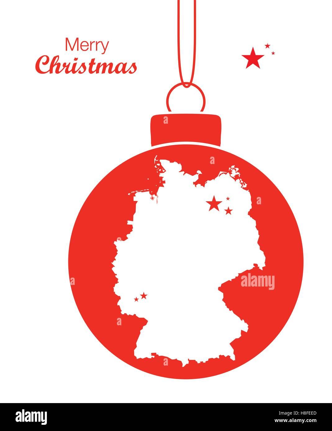 Frohe Weihnachten Aus Deutschland.Frohe Weihnachten Karte Deutschland Vektor Abbildung Bild