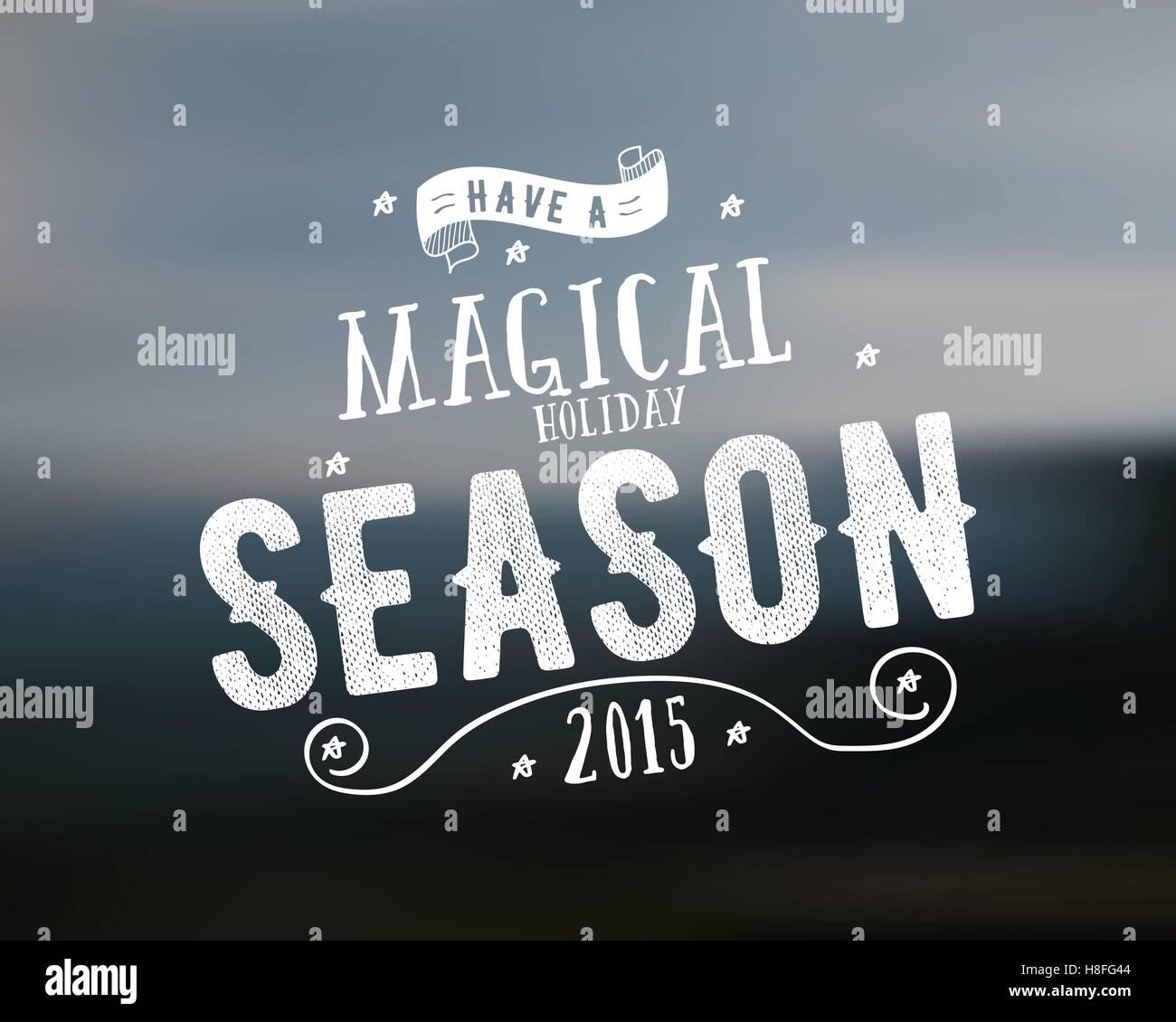 Frohe Weihnachten-Schriftzug. Magische Jahreszeit wünschen Vektor ...
