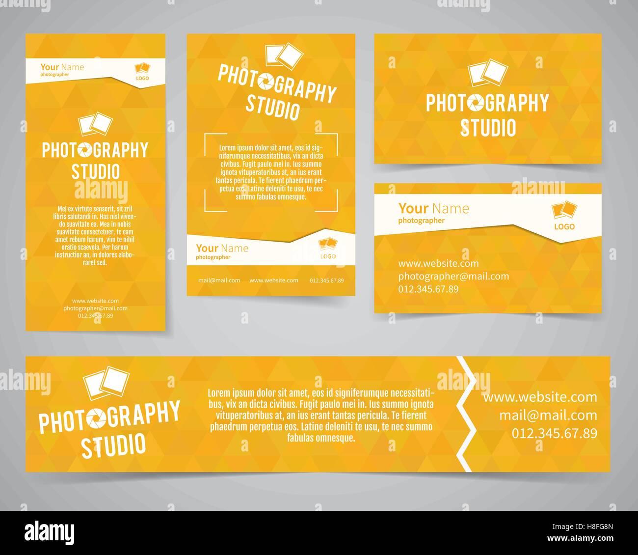 Moderne Helle Identität Gesetzt Visitenkarte Banner Flyer