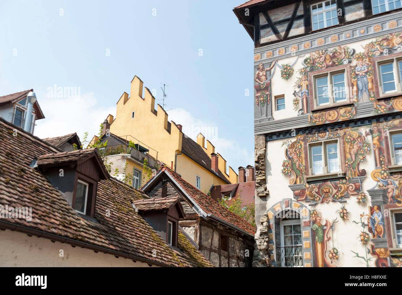 konstanz turm haus zum goldenen l wen in der hohenhausgasse mit architektur gem lde aus der. Black Bedroom Furniture Sets. Home Design Ideas