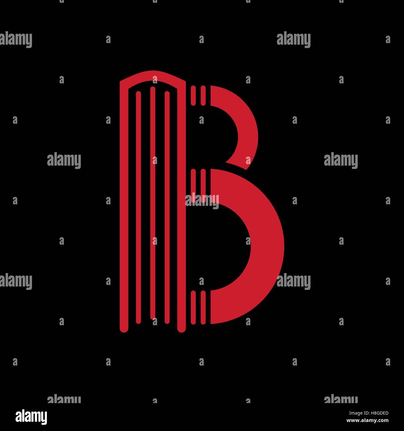 Logo Vorlagen Brief B Buch Form Vektor Abbildung Bild 125751653