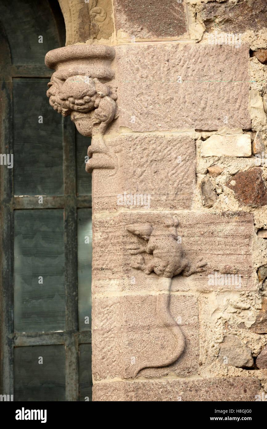 Frankreich, Cote d ' Azur Mandelieu-La Napoule, Steinrelief bin Château De La Napoule Stockbild