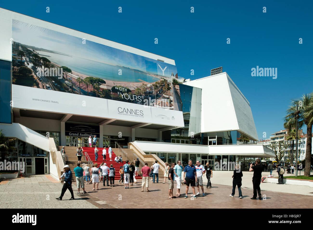 Frankreich, Cote d ' Azur, Cannes, sterben Internationalen Filmfestspielen Finden Im Palais des Festivals Statt. Stockfoto