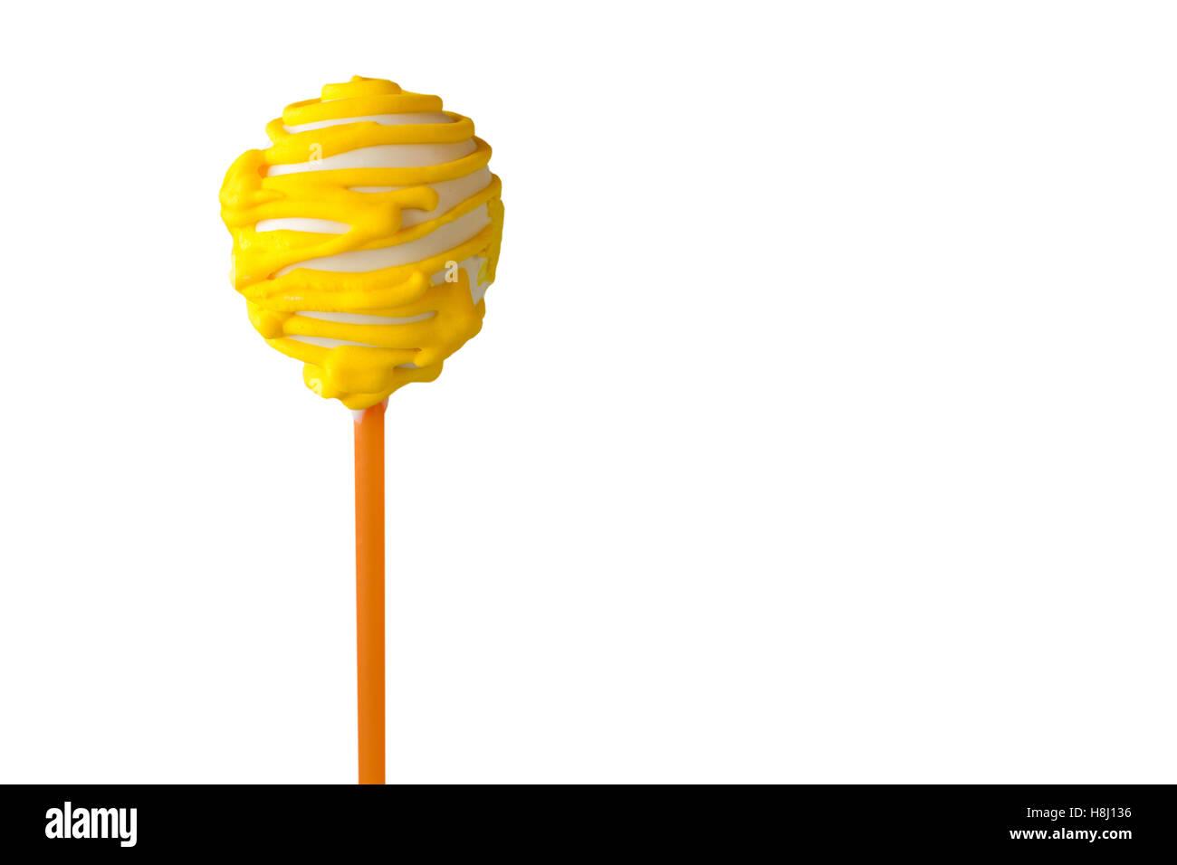 Lutscher Kuchen mit Zuckerguss. Stockbild