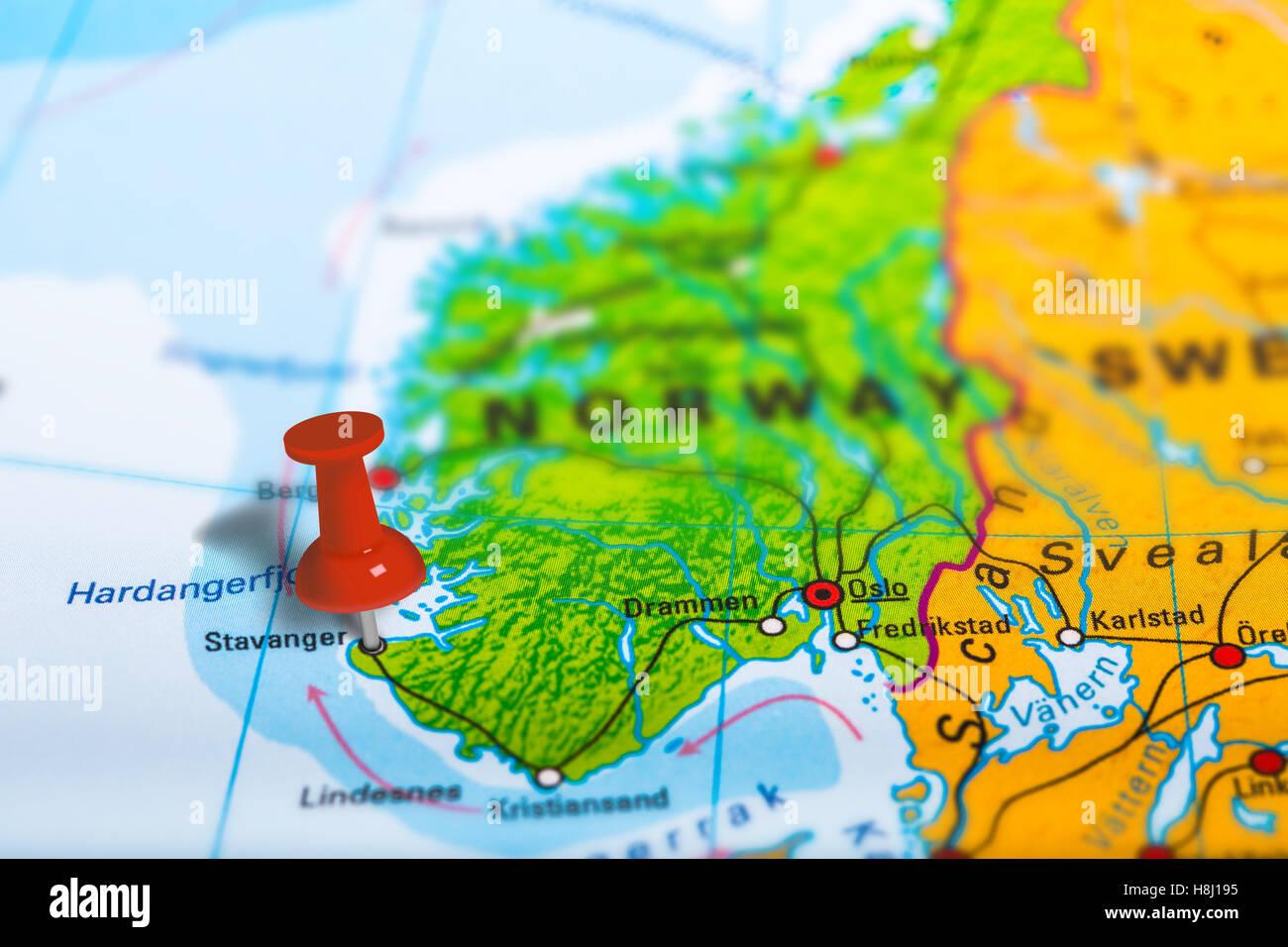 Karte Norwegen.Stavanger Norwegen Karte Stockfoto Bild 125786001 Alamy