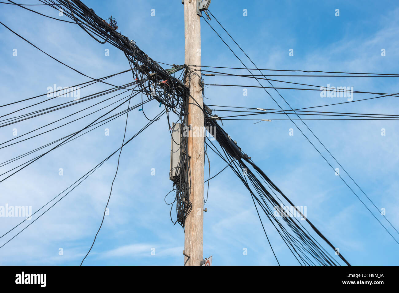 Cable Wires Mess Stockfotos & Cable Wires Mess Bilder - Alamy