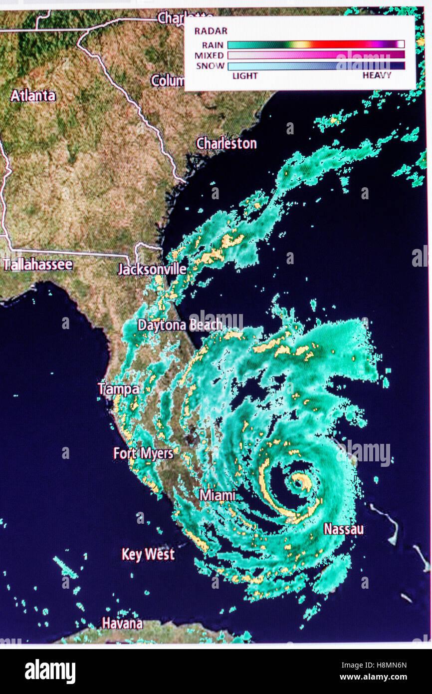 hurricane radar map stockfotos & hurricane radar map bilder