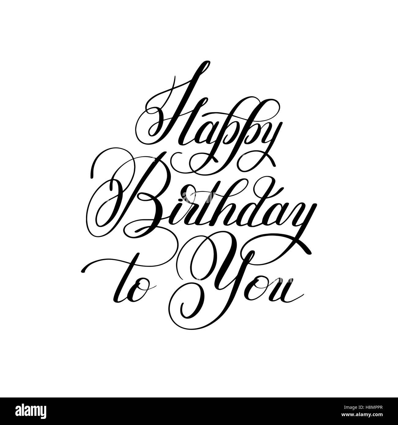 Schriftzug Inschrift Typografie Vorlage alles Gute zum Geburtstag ...