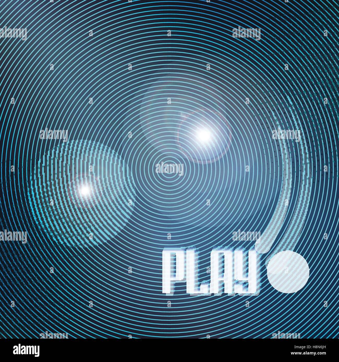 abstrakte blaue Kreise auf schwarzem Hintergrund. Vektor-geometrische, glänzende Tapete-Vorlage. cooles Design-Hintergrund. Stock Vektor