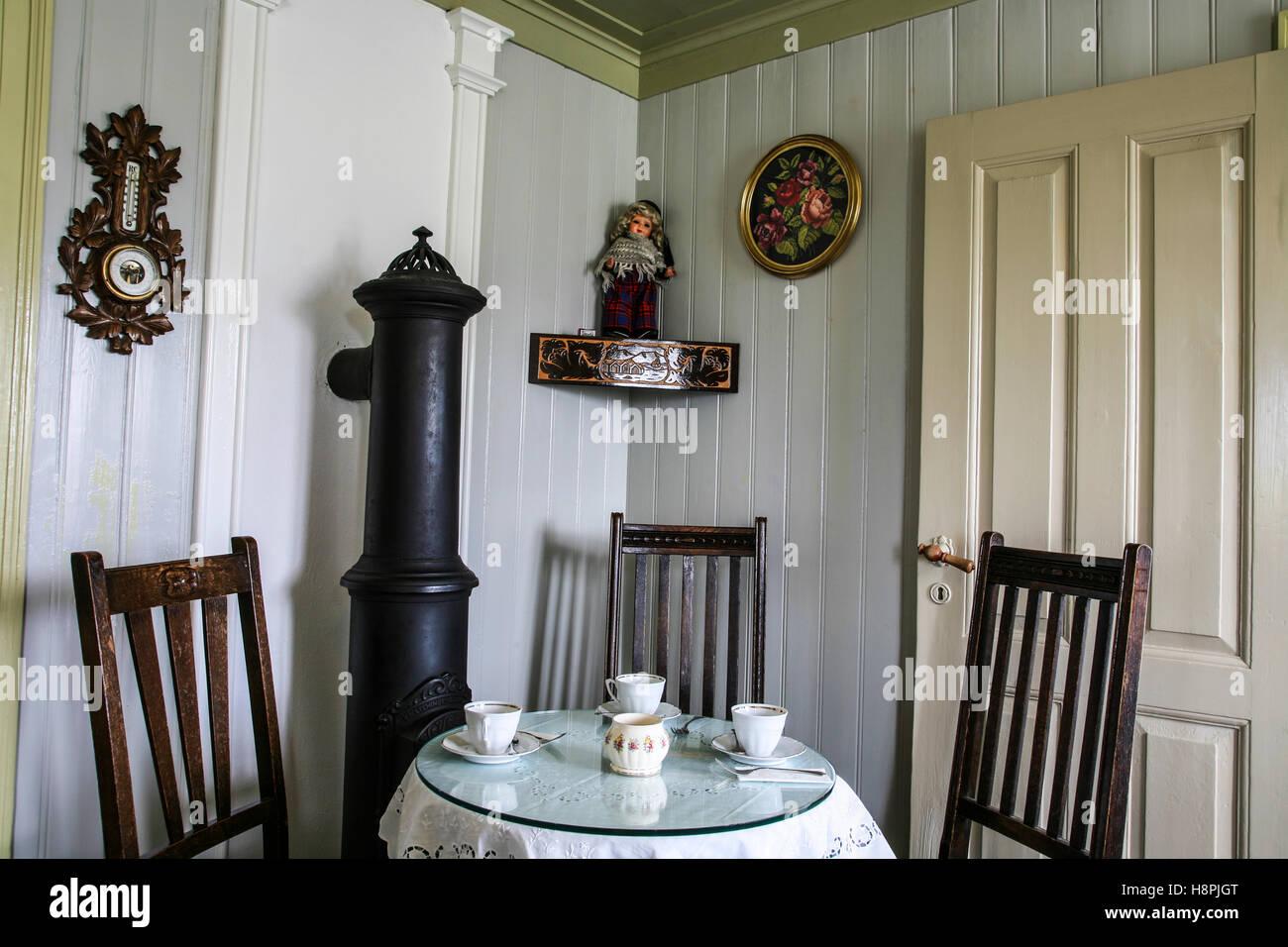 Vintage Style Isländischen farm Küche Esszimmer an der ...