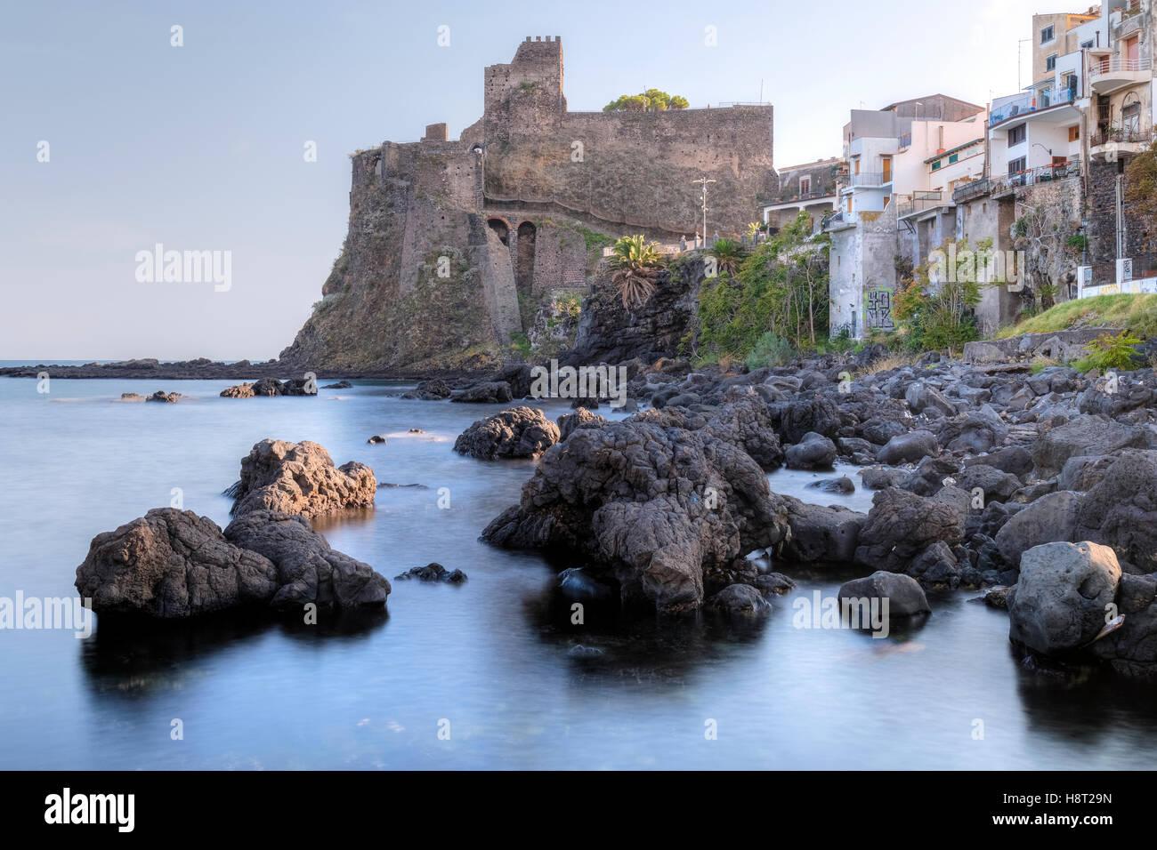 ACI Castello, Acireale, Catania, Sizilien, Italien Stockbild
