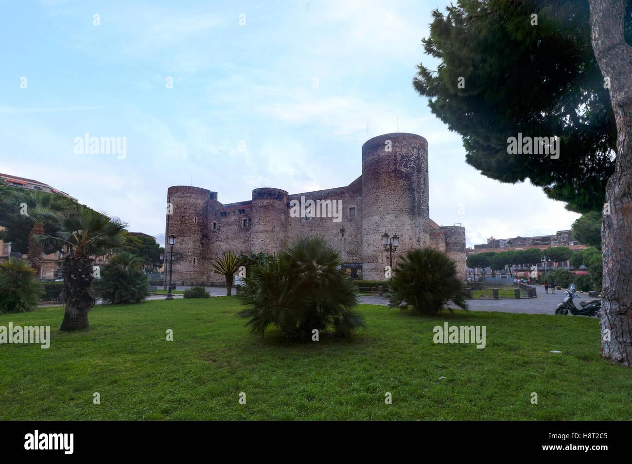 Castello Ursino, Catania, Sizilien, Italien Stockbild