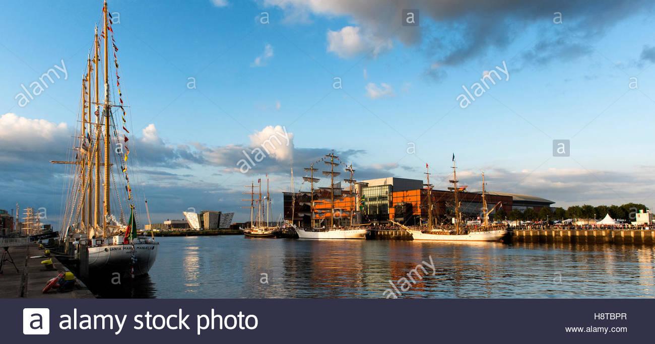Große Schiffe Veranstaltung, Belfast, Northern Ireland 2015 Stockbild