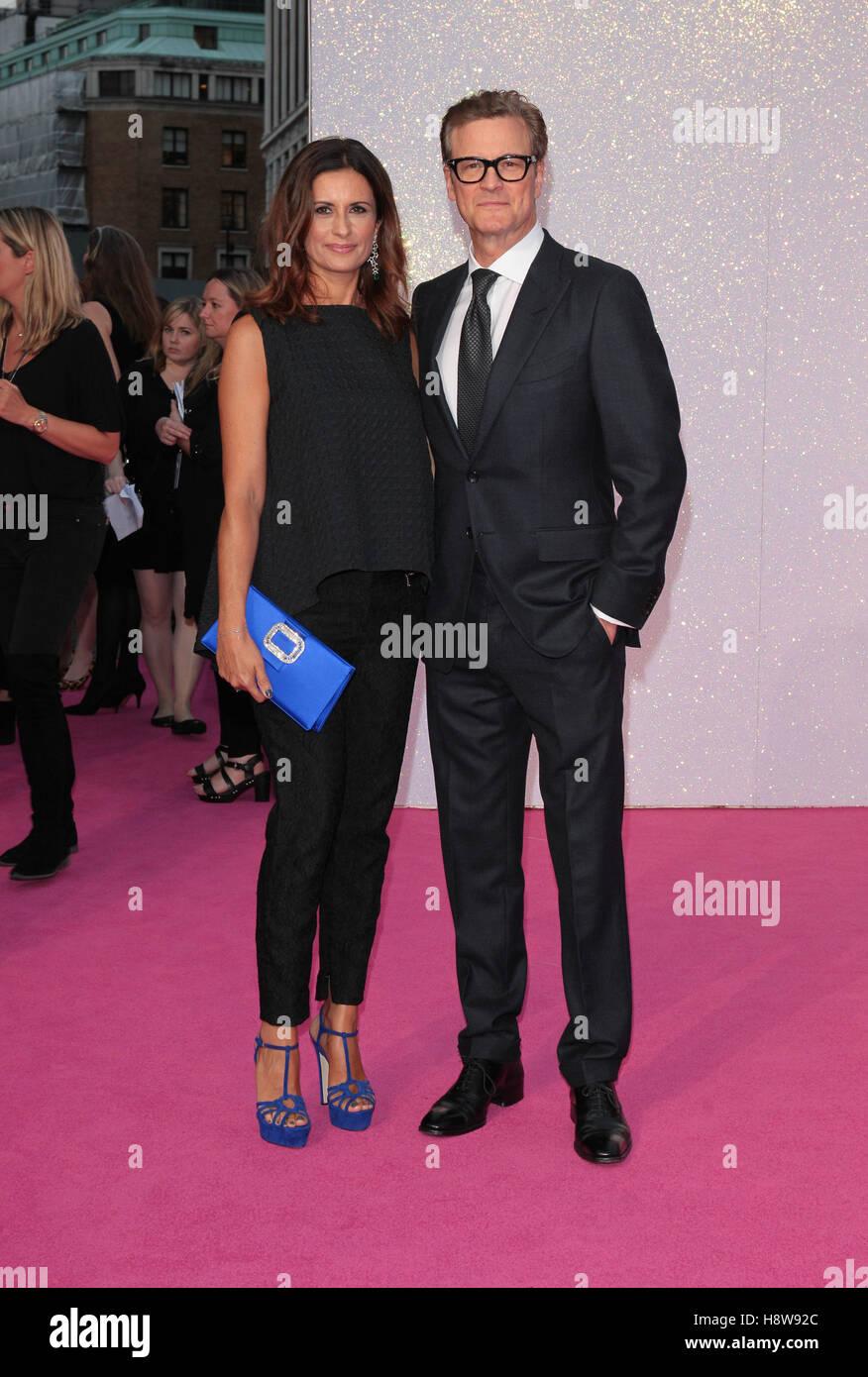 Livia Giuggioli und Colin Firth zu besuchen Bridget Jone Baby-Filmpremiere London am 05 September 2016 Stockbild