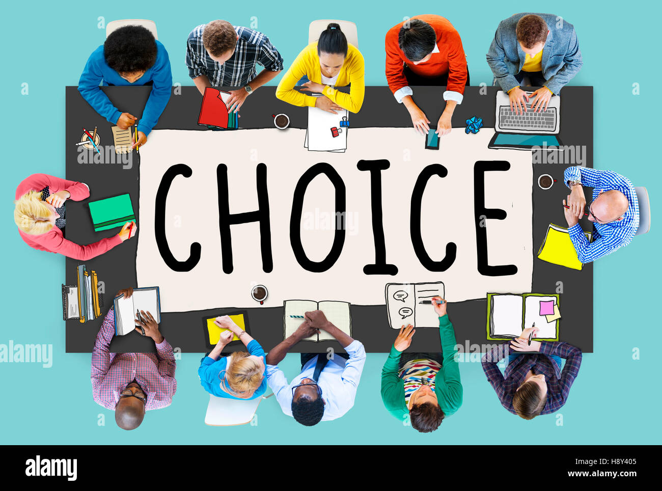 Andere Wahl Chance Gelegenheit Entscheidung Alternativkonzept Stockbild