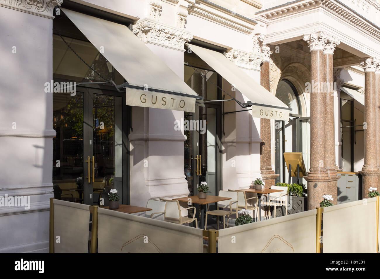 Italienische Restaurant Gusto in Colmore Reihe, Birmingham Stockbild