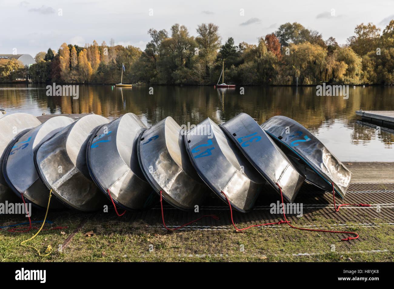 Optimist Aluminium Rümpfe Stockbild