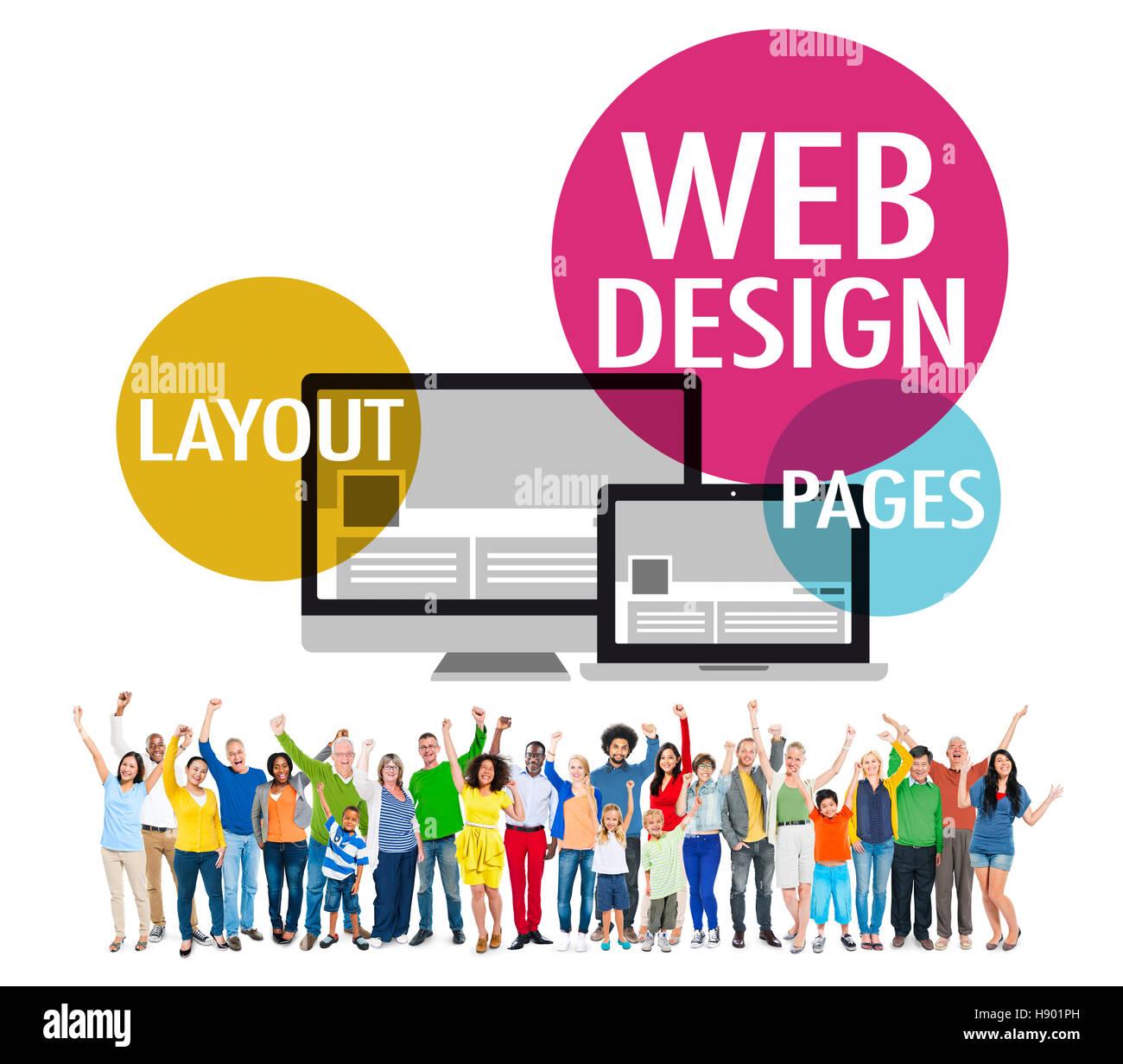 Web Design Content Creative Website Stockfotos & Web Design ...
