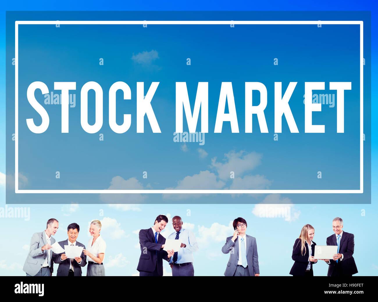 Börse-Exchange-Geldanlage-Wirtschaft-Konzept Stockbild