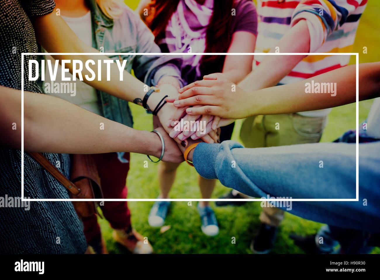 Diversity-Multi-rassischen Gemeinschaft-Menschen-Konzept Stockbild