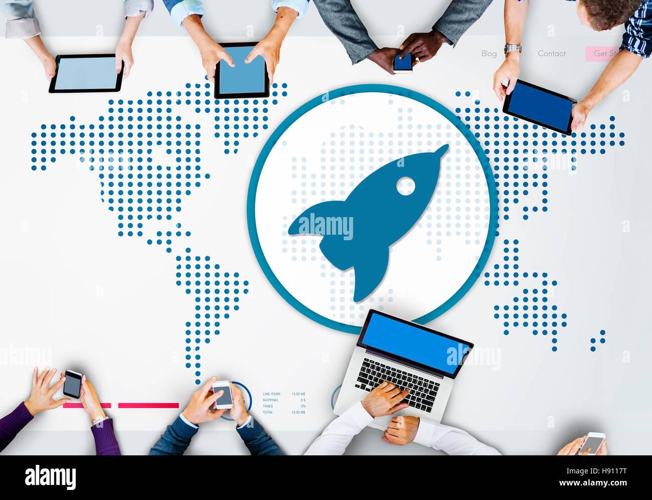 Start starten neue Business Erfolg Wachstumskonzept Stockbild
