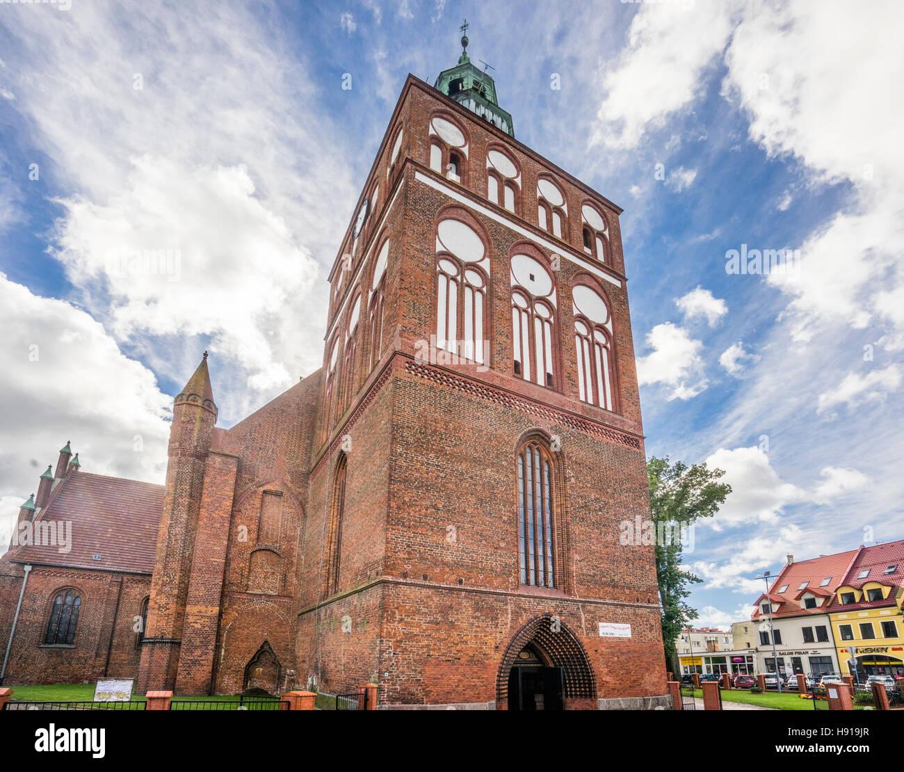 Polen, Westpommern, Gryfice (Greifenberg), Ziegel-gotische St. Maria Himmelfahrt-Kirche Stockbild