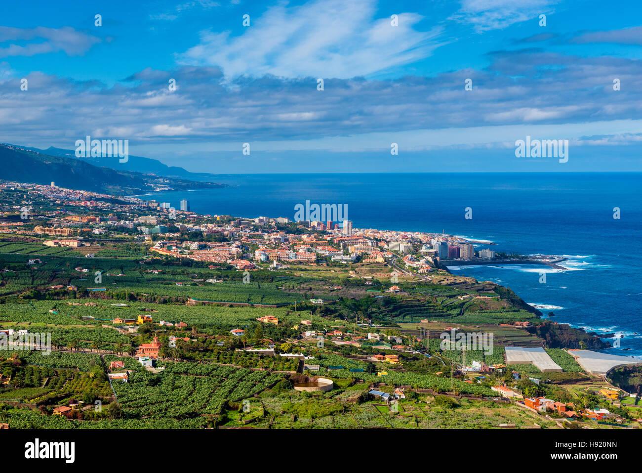 Puerto De La Cruz-Teneriffa Stockfoto
