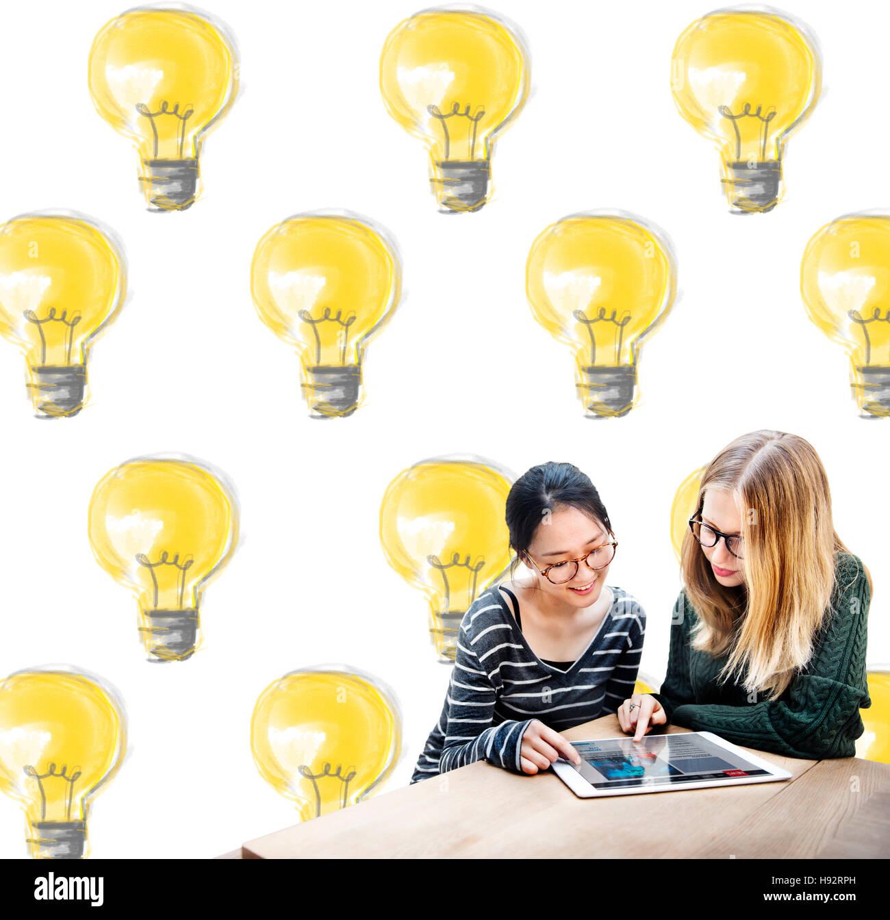Lampe Strom Beleuchtung Idee Lichtkonzept Stockbild