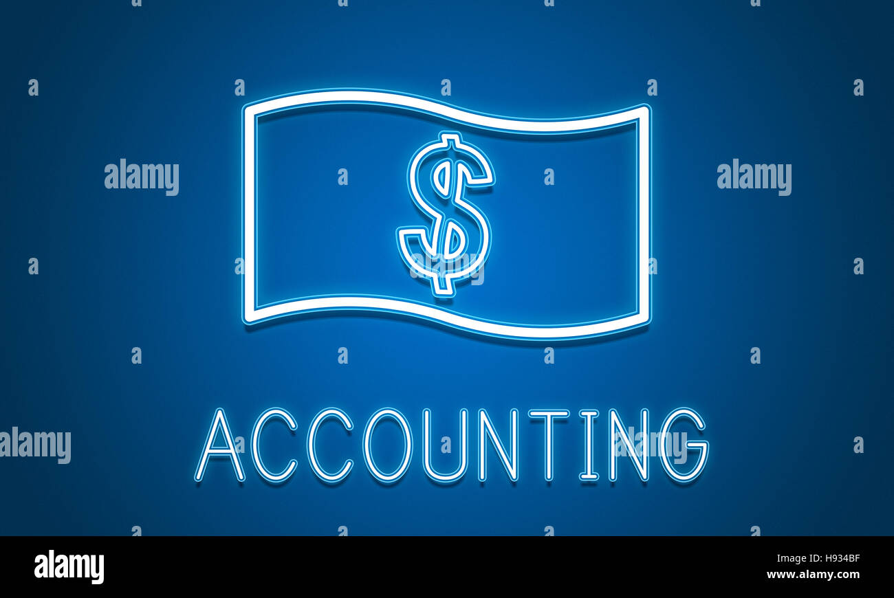 Cash Flow Accounting Symbol Konzept Geld sparen Stockbild