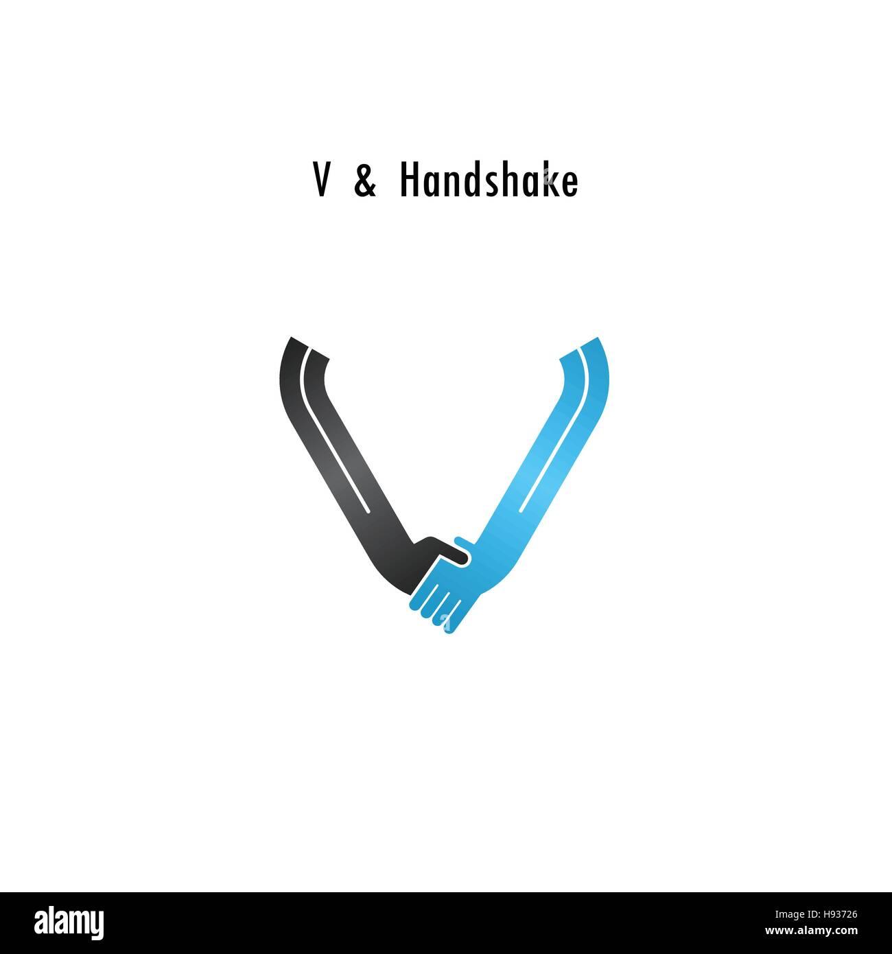 V Symbol Abstrakte Logo Design Vektor Briefvorlage Business Angebot