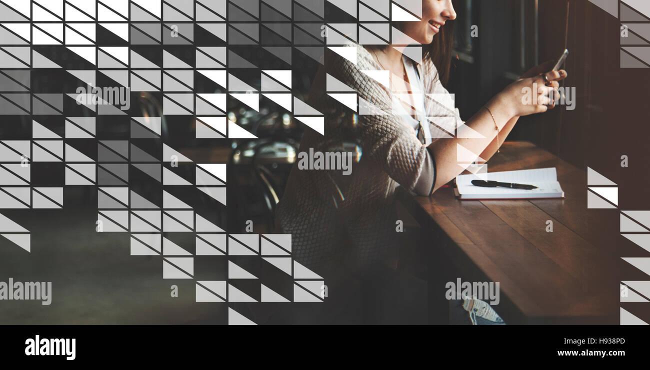 Grafische Kunst abstrakte künstlerische Illustration Designkonzept Stockbild