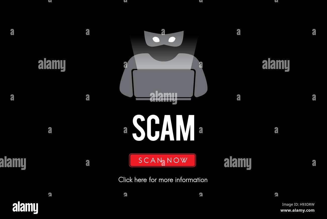 Betrug-Virus Spyware Malware Antivirus-Konzept Stockbild