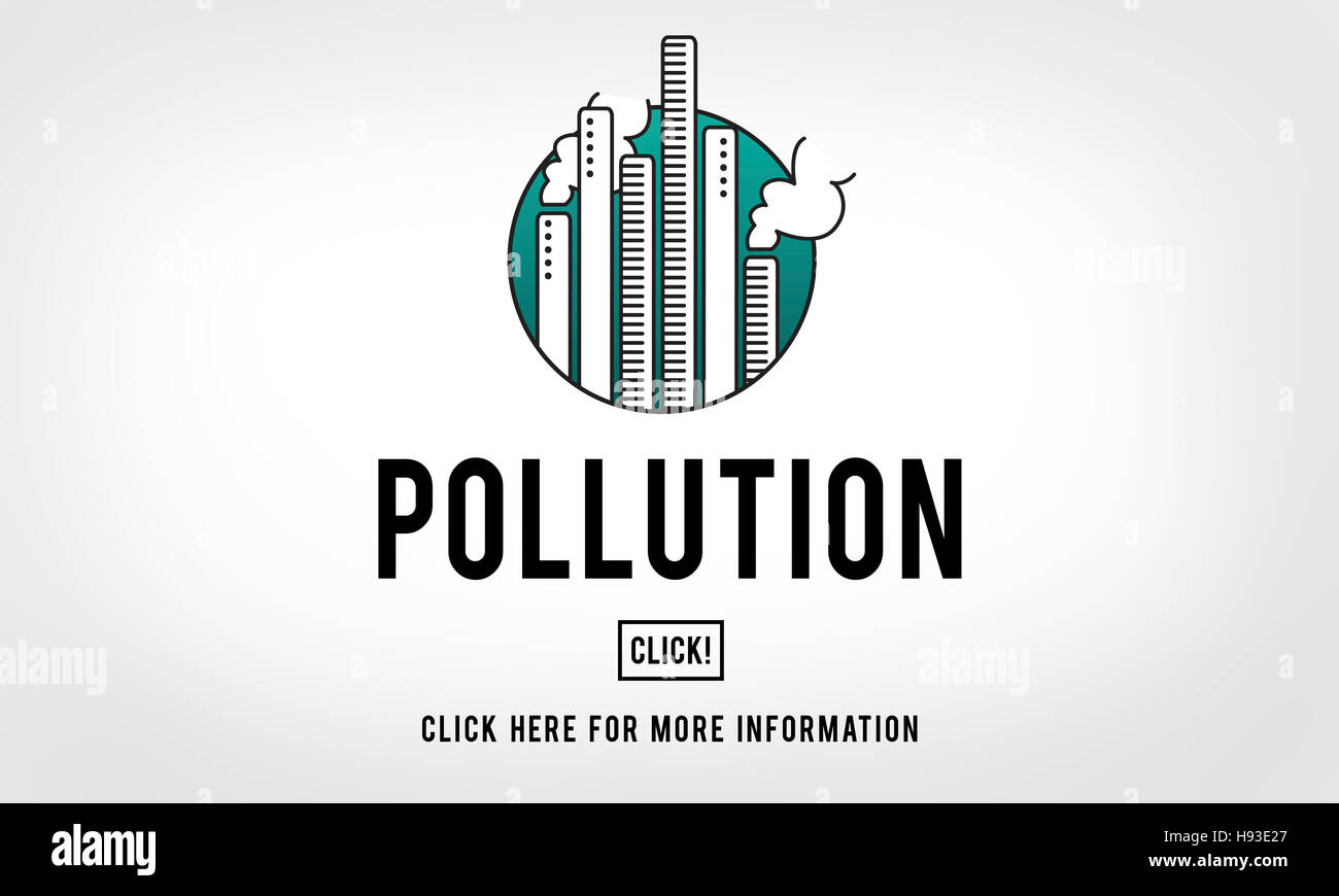 Luftverschmutzung Emissionen Nebel Gefahren Nebel verschmutzen Smog-Konzept Stockbild