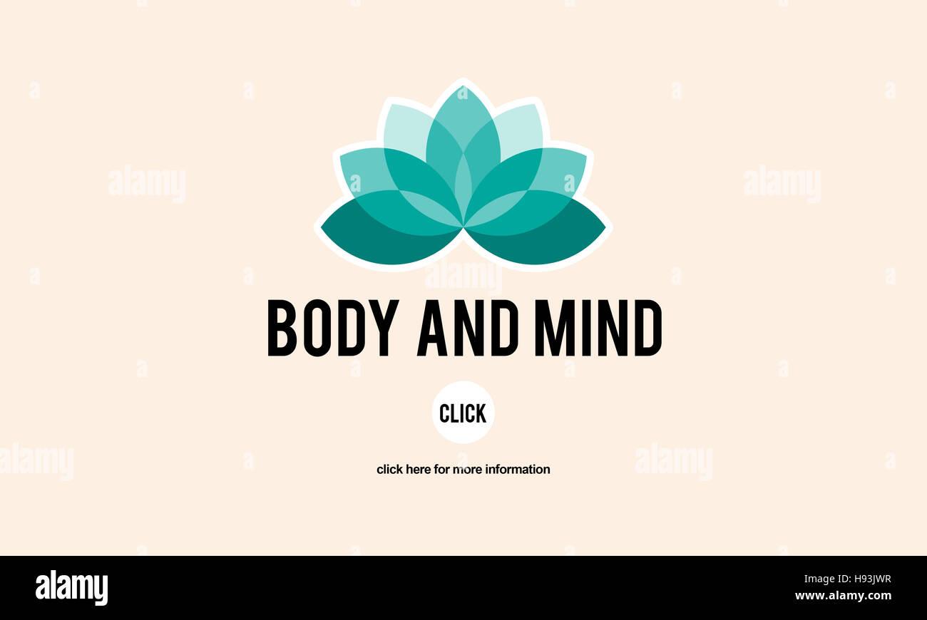 Körper und Geist Konzentration geistige Gesundheitswesen Restaurierungskonzept Stockbild