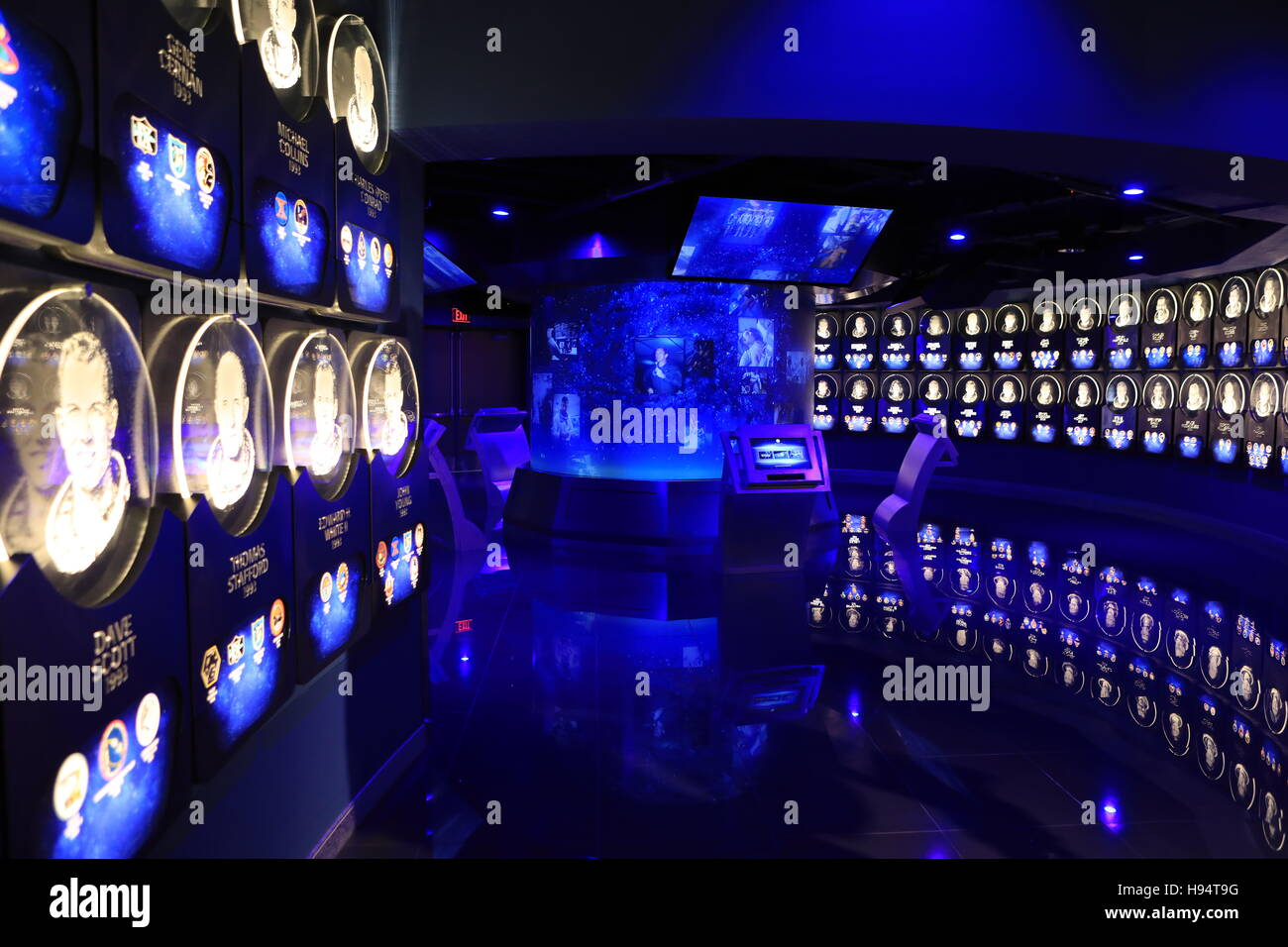 Der US-Astronaut Hall Of Fame, Teil der Helden und Legenden Attraktion am Kennedy Space Center Visitor Complex 7. Stockbild